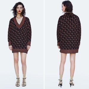 Zara Metallic Knit Sweater